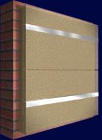 Система вентилируемых фасадов, крепление утеплителя, Горизонтальный каркас