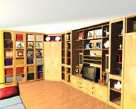 Встроенный шкаф с распашными стеклянными дверями