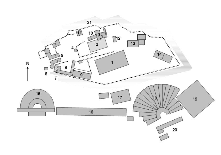 Акрополь в Афинах, план общего расположения