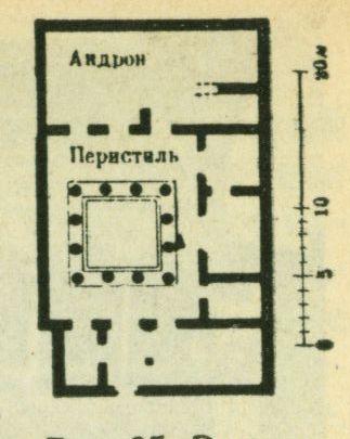Эллинистическо-греческий дом на острове Делосе (план)