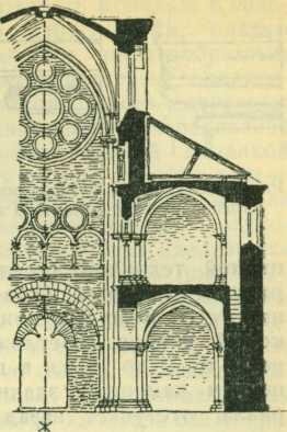 Поперечный разрез собора в Лимбурге