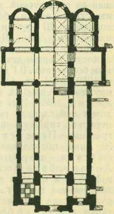План монастырской церкви в Ерихове