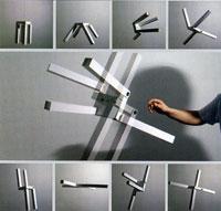 Прототип светильника 'Бешеный табурет' Архит. В. Щетинин. Мастерская 'Вещь'. 1 место в номинации 'Предмет в интерьере'