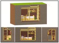 Проект помещения для скрытого компактного проживания 'Схрон'. 'Обледенение архитекторов'. Специальный диплом жюри.