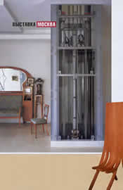 """Проект квартиры и стул от бюро """"А-Б"""" - Гран-при по совокупности работ. """"В этом проекте создан конфликт между традиционно-домашними элементами и таким техническим объектом, как лифт""""."""