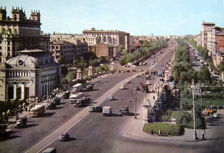 Советская архитектура - Ленинградский проспект, Москва