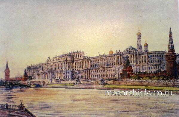 При Екатерине II часть стены Кремля разобрали