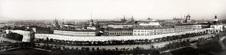 Панорама Китай-города из нескольких снимков, представленных в альбоме Н. А. Найдёнова