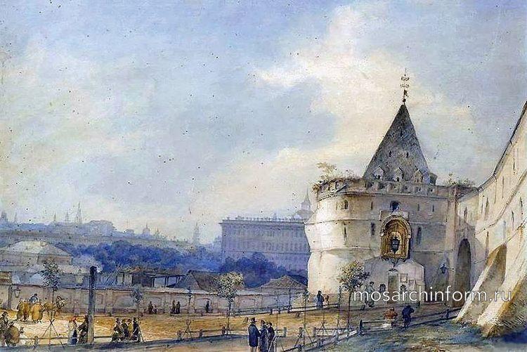 Варварские ворота Китай-города, дата - ранее 1888, Сократ Максимович Воробьёв