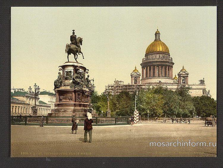 Исаакиевский собор вид со стороны памятника Николаю I