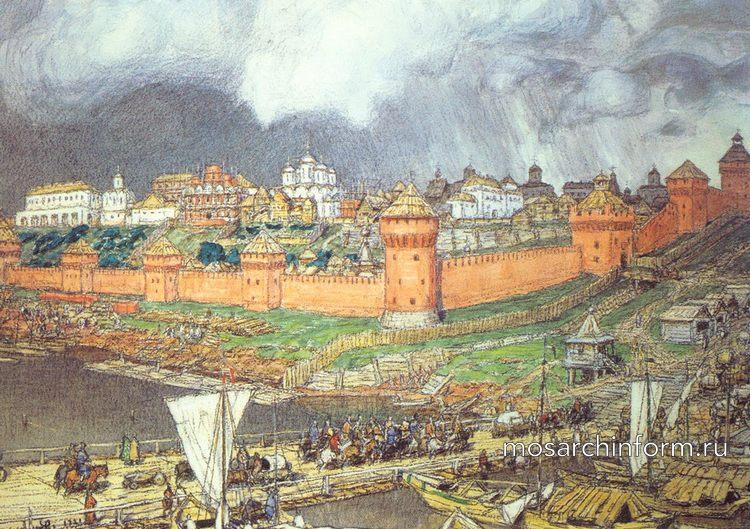 Московский Кремль при Иване III, картина Аполлинария Васнецова