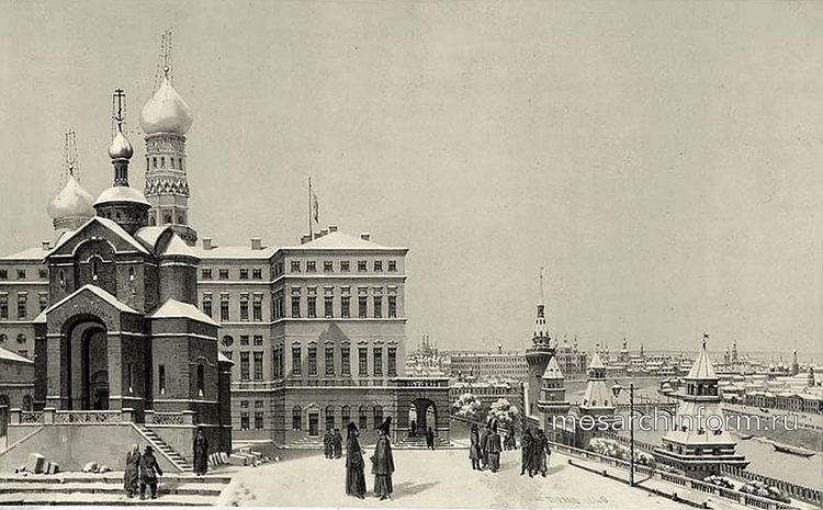 Вид из Кремля на Москву-реку в 1820 г.