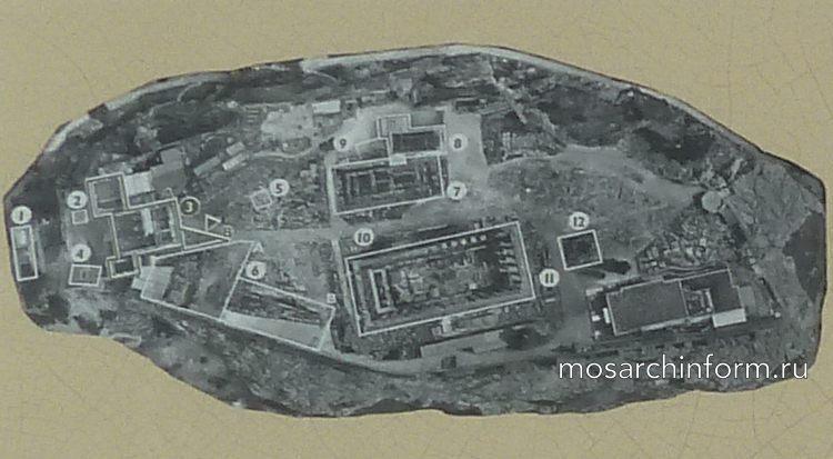 Акрополь, Афины. Ортофотоплан Акрополя.