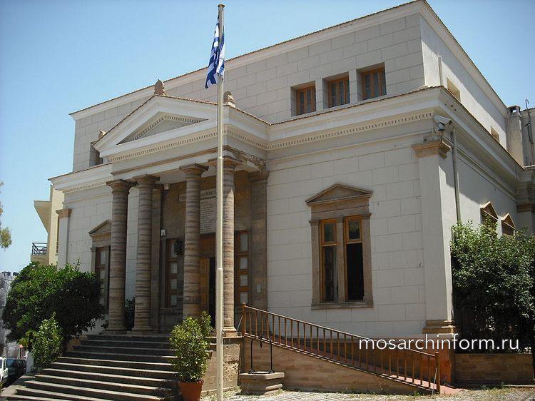 Современная греческая архитектура - Публичная библиотека Кораиса, Хиос