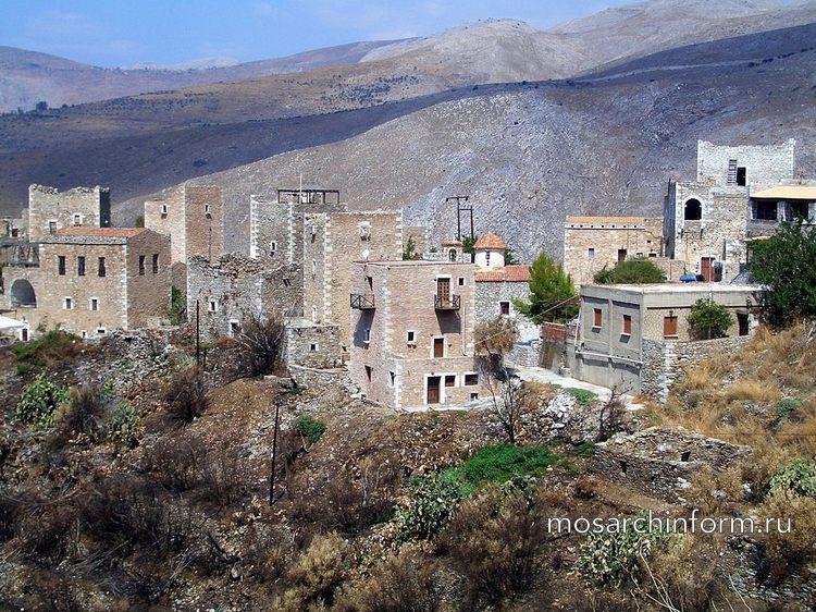 Современная греческая архитектура - Дома-башни на полуострове Мани