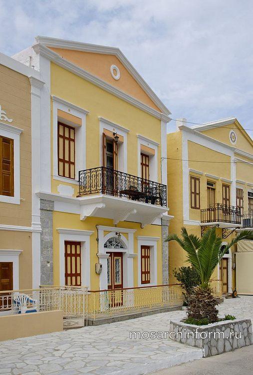 Современная греческая архитектура - Красочные дома острова Сими