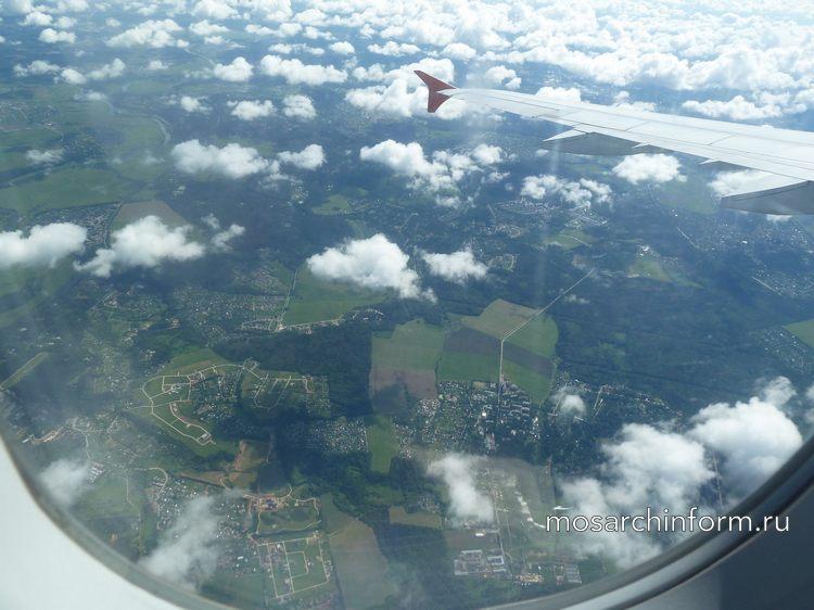 Виды на Подмосковья из окна самолёта