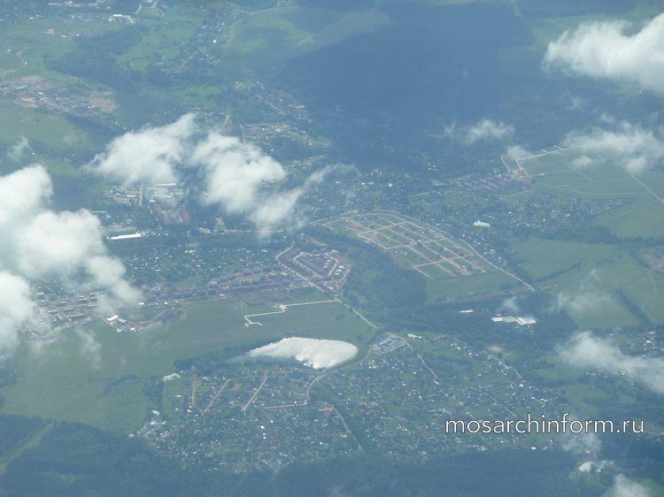Ландшафт городов из окна самолёта