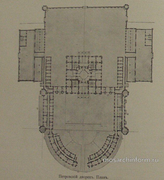 Петровский дворец - план.