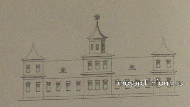 рисунок Тайнинского дворца