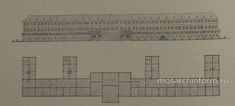 рисунок Воробьевского дворца