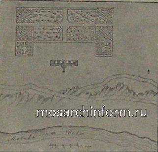рисунок местности Воробьевого дворца