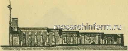 План и разрез храма Хона в Карнаке
