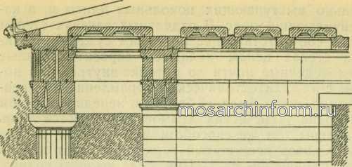 Конструкция перекрытия Парфенона (опистодом)