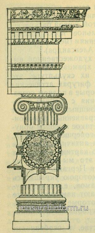Ионический ордер храма Афины градохранительницы в Приене