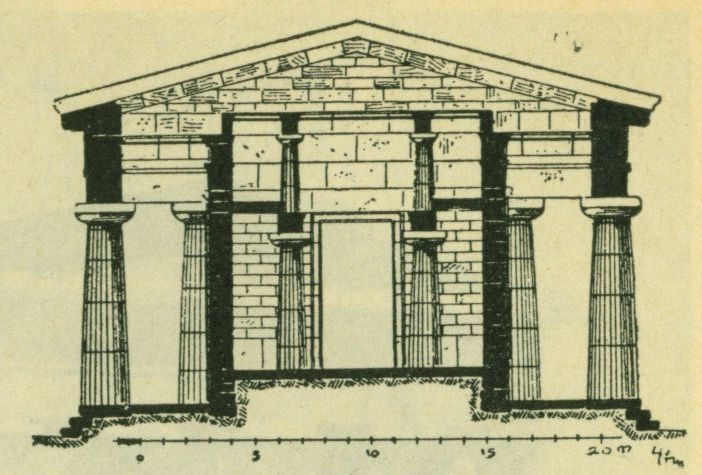 Храм Посейдона в Пестуме (поперечный разрез)