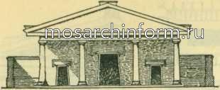Фасад этрусского храма по Витрувию Римская архитектура