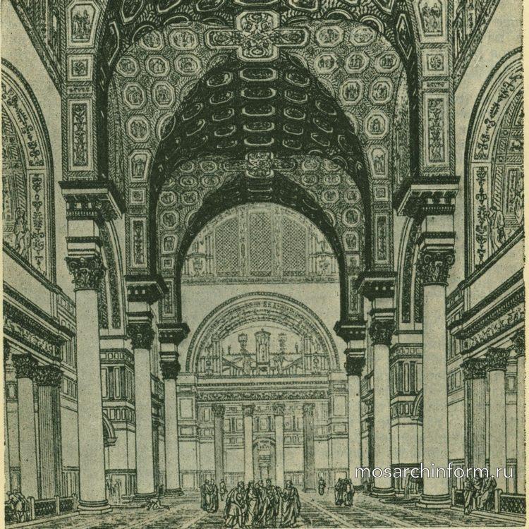 Термы Каракаллы в Риме. Перспективный вид тепидария Римская архитектура