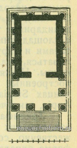 Храм Фортуна Вирилис в Риме (план) Римская архитектура