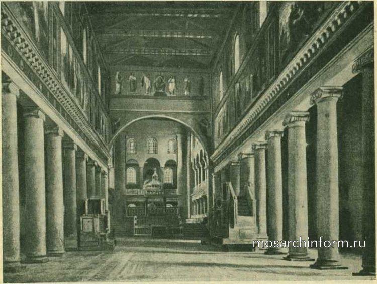 Внутренний вид С.-Лоренцо фуори ле мура, в Риме