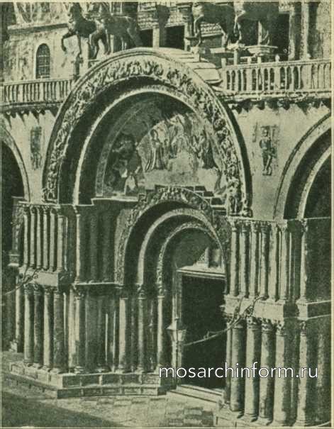 Главный портал Санта-Марко в Венеции - Византийская архитектура