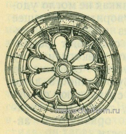 Романское, круглое окно-колесо