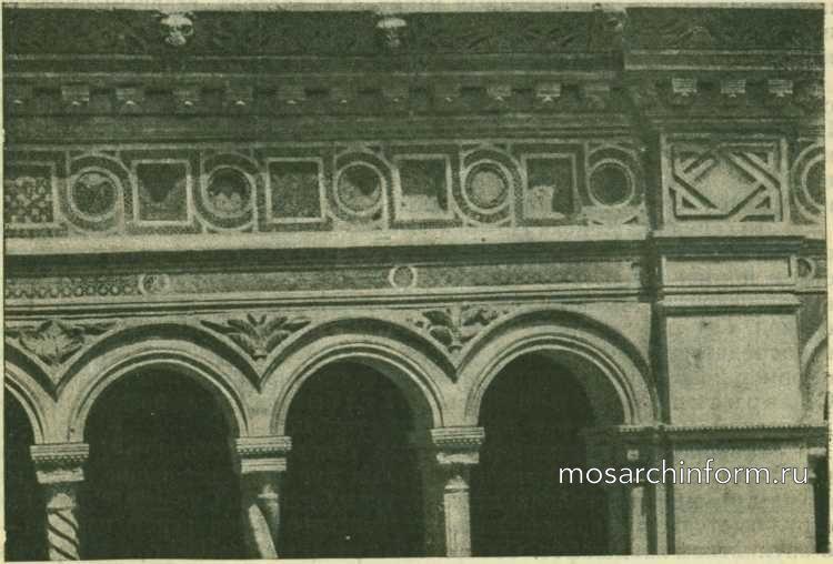 Фрагмент монастырского хода церкви Cан-Джованни ин Латерано в Риме - Романская архитектура Италии