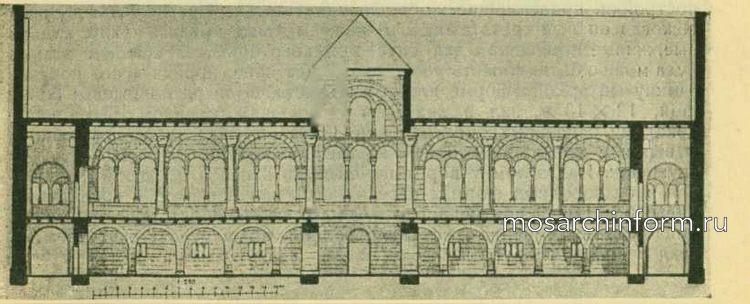 Дворец императорской резиденции в Госларе (продольный, разрез)