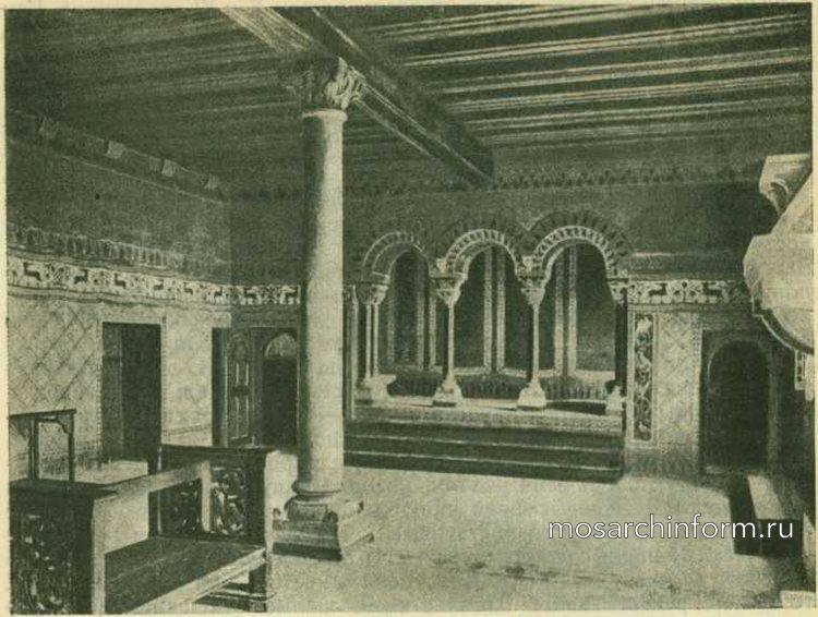 Зал певцов во дворце в Вартбурге - Романская гражданская архитектура