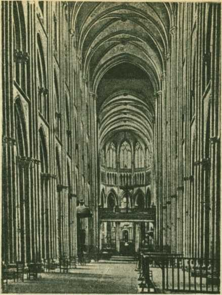 Интерьер Руанского собора - Готическая архитектура Франции