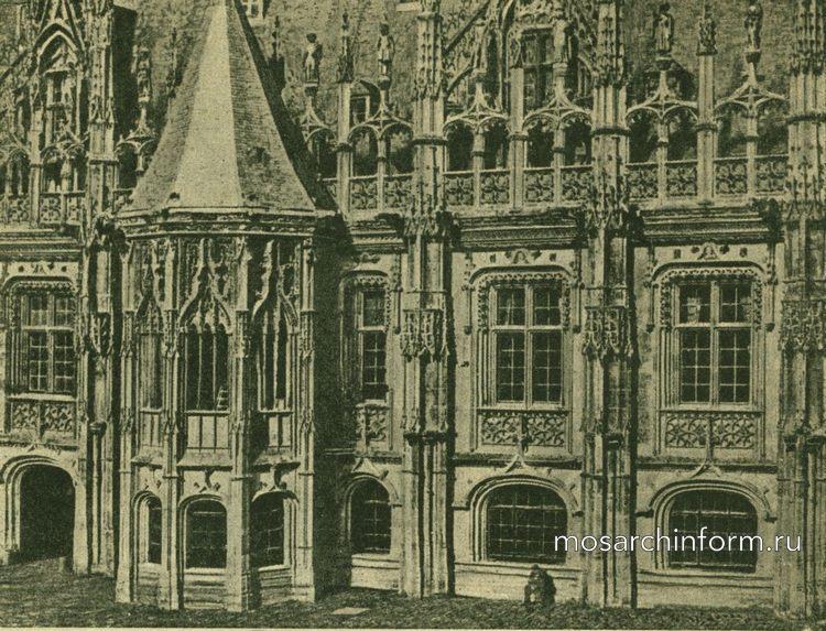 Готическая гражданская архитектура - Деталь дворца юстиции в Руане