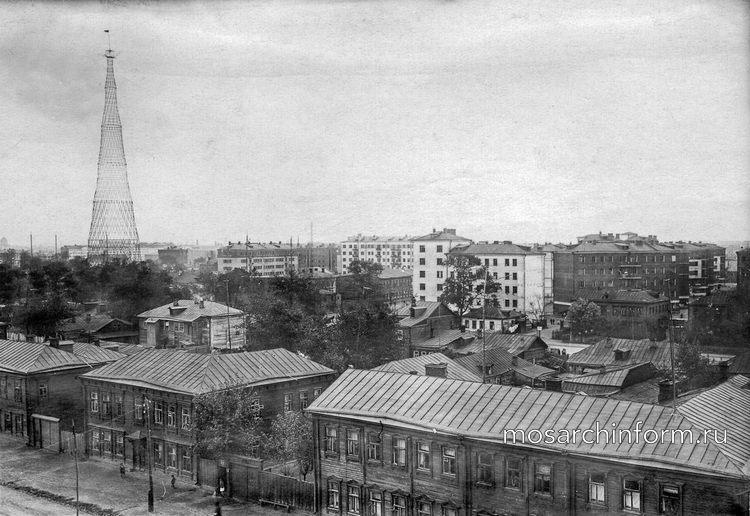 Вид на Шуховскую башню в довоенной Москве - Фото пользователей сайта фото