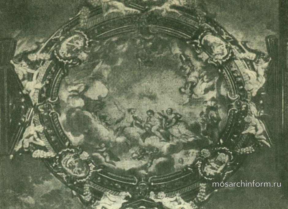 Роспись потолка в палаццо Питти во Флоренции.