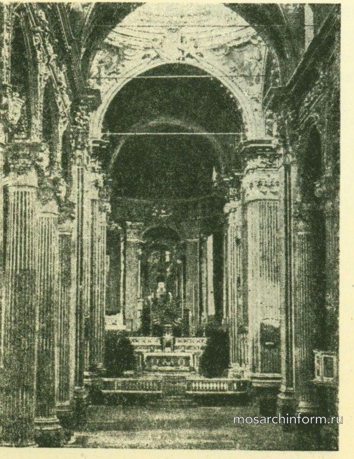 Интерьер церкви с.Аннунциаты в Генуе.