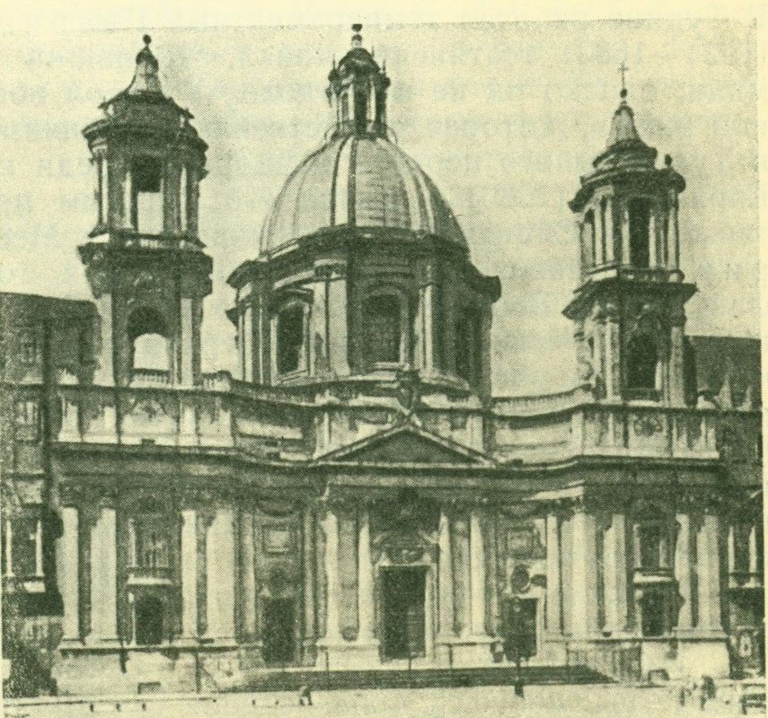 Церковь с. Аньезе на площади Навона в Риме