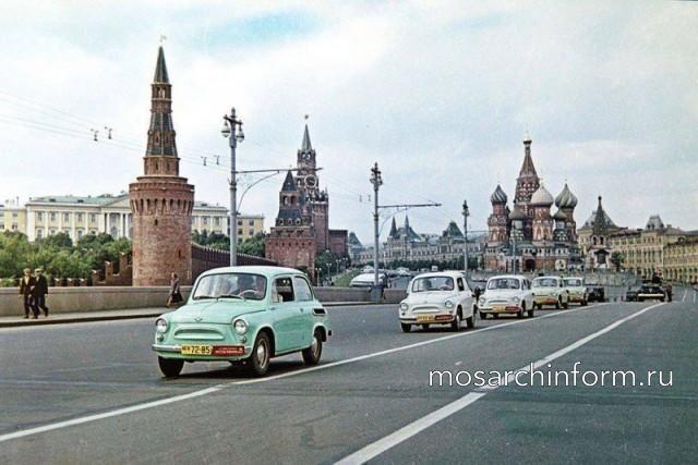 Колонна Запорожцев в Москве. 1960 год. Красная площадь - Фото пользователей сайта фото