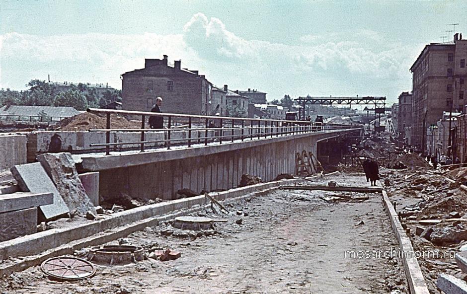 Эстакада на Садовом кольце, ул. Чкалова (Земляной Вал). 1963 г. - Фото пользователей сайта фото