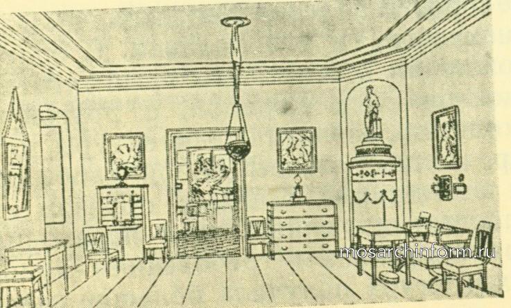 Комната времен бидермайер, 1820 г