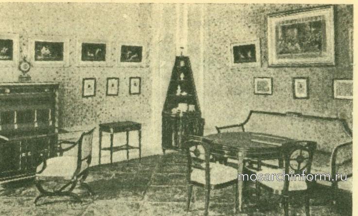 Жилая комната в замке Карлслуст в Нижней Австрии