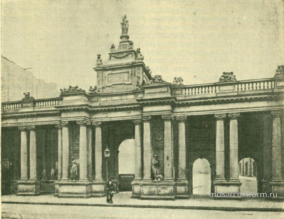 Архитектура неоклассицизма в Германии и Австрии - Королевская колоннада в Берлине
